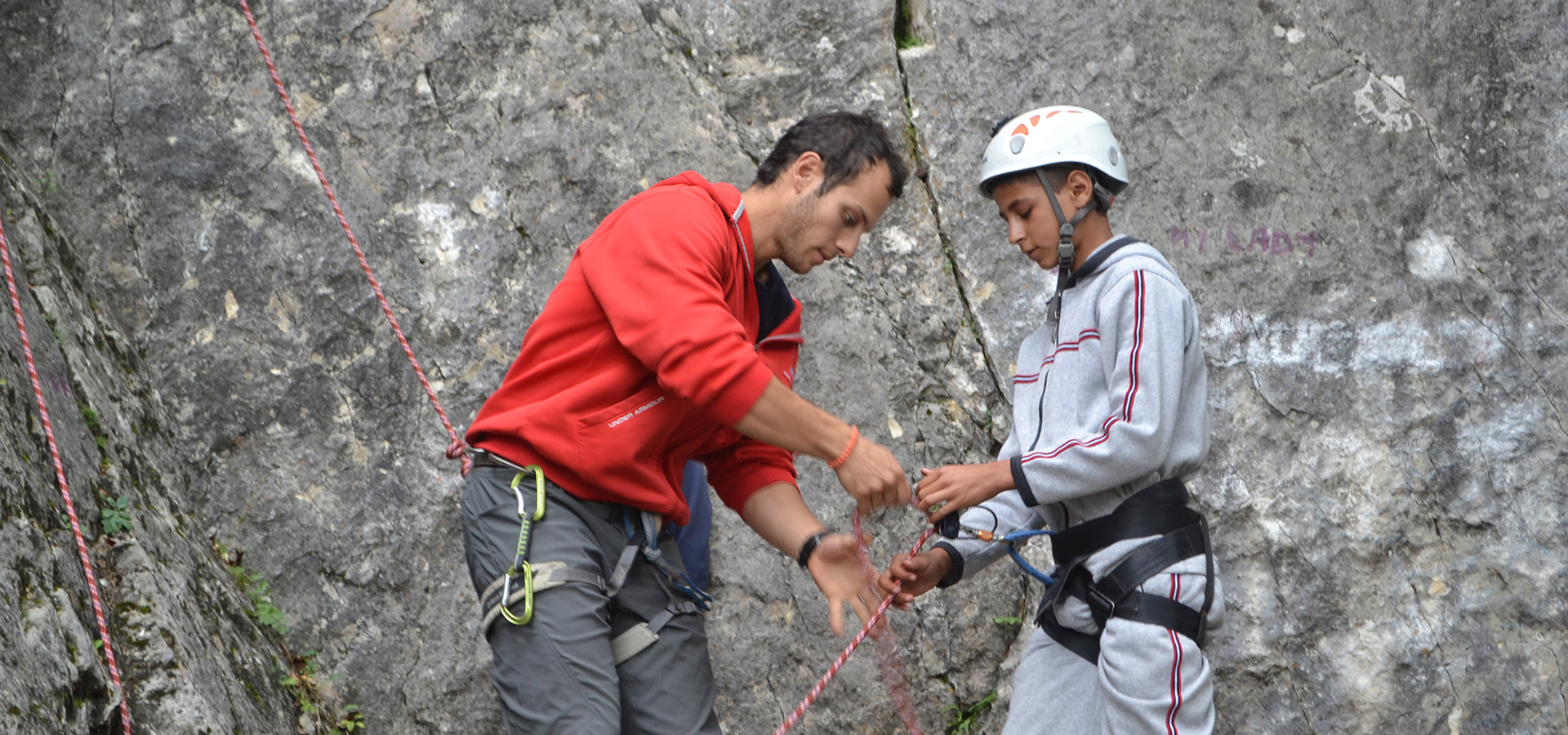Northwestern graduate Felipe Silva wins national CCCU Young Alumni Award for rock-climbing ministry to Romanian youth.
