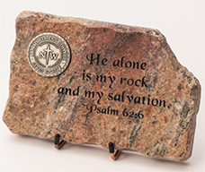 He alone is my rock and my salvation rock