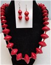 Handmade Red Necklace Set