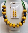 Handmade Yellow Necklace Set
