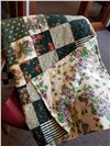 Handmade Forest Green Quilt