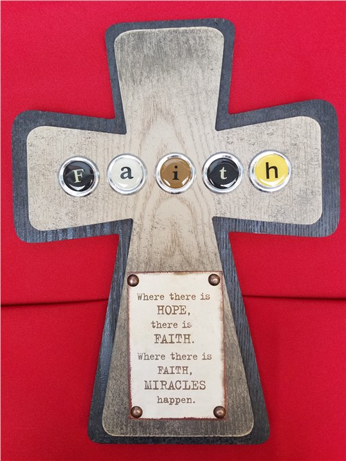 Faith Cross Plaque