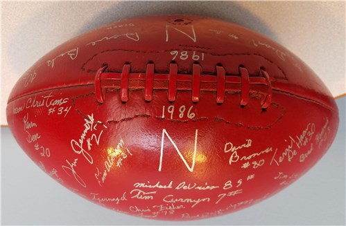 Autographed Red Raider Football - 1986 Team