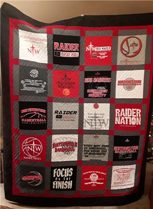 NWC Basketball T-Shirt Quilt