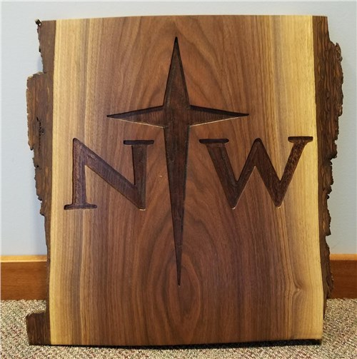 NW Walnut Wall Hanging