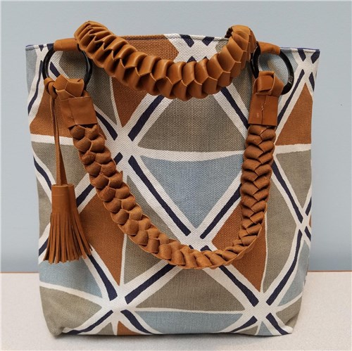 Vi Bella Brown Geometric Tote