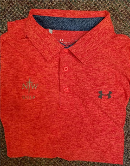 NWC Red Golf Polo