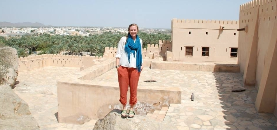 A Northwestern student goes sight-seeing in Oman.