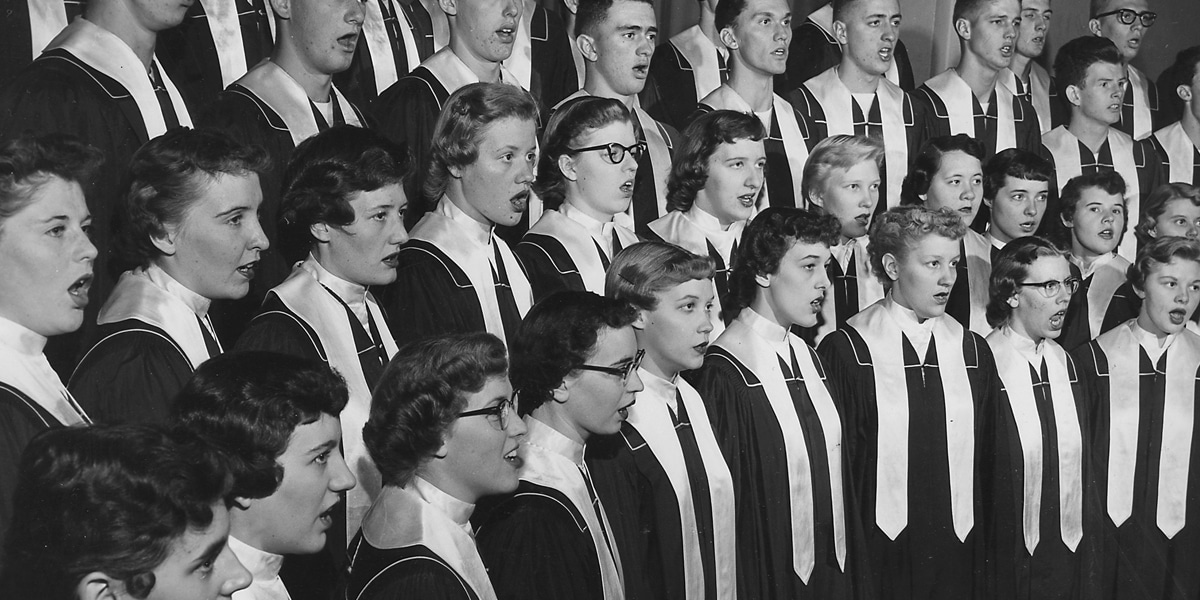 The 1956 Northwestern College choir.