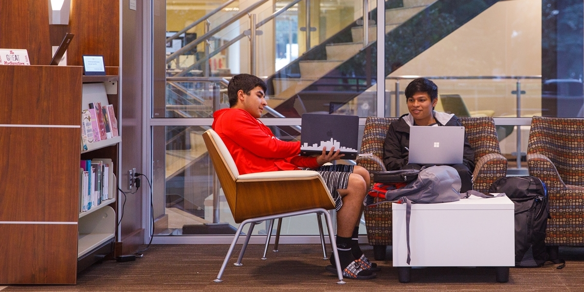 Students studying in the Learning Commons