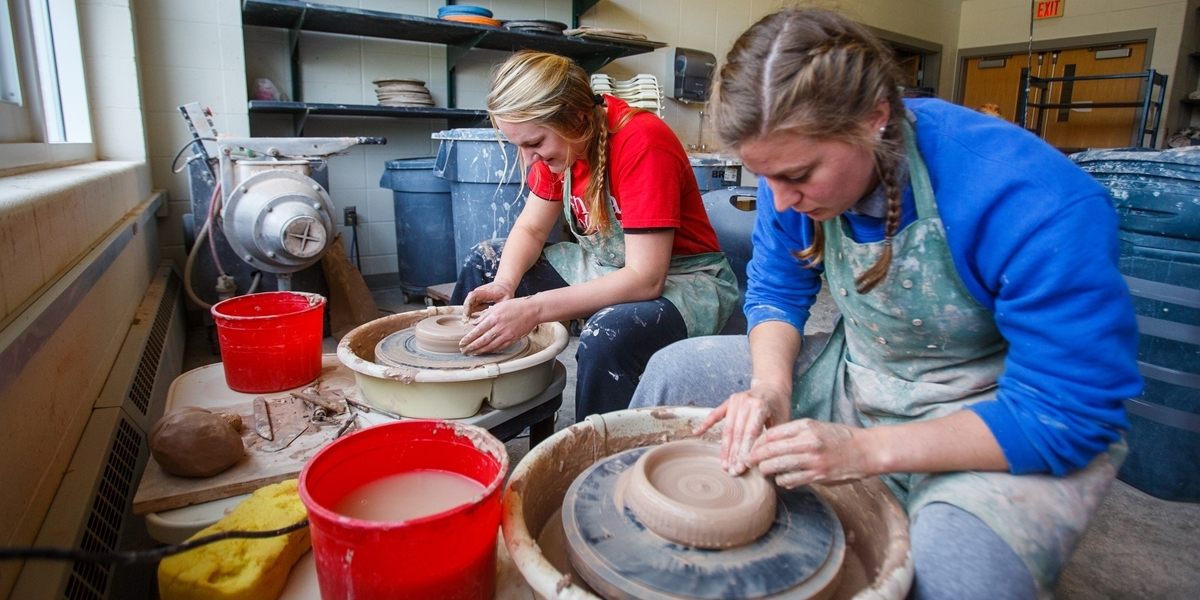 Korver Art Center pottery studio