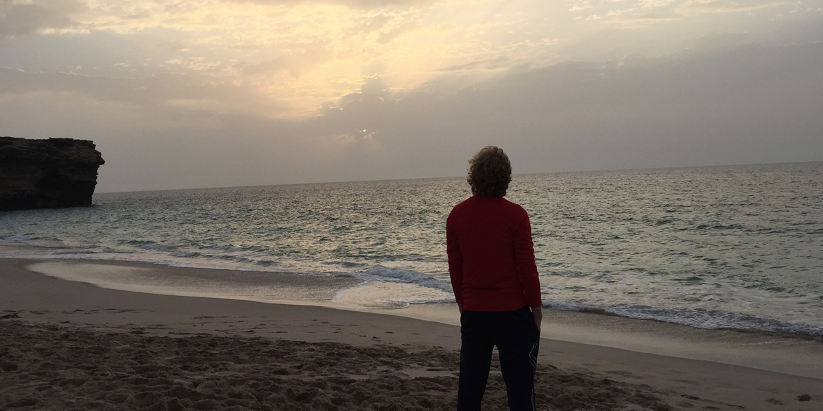 A Northwestern student studies abroad in Oman.