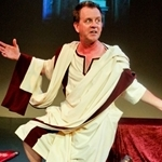 Breakneck Julius Caesar on stage at Northwestern