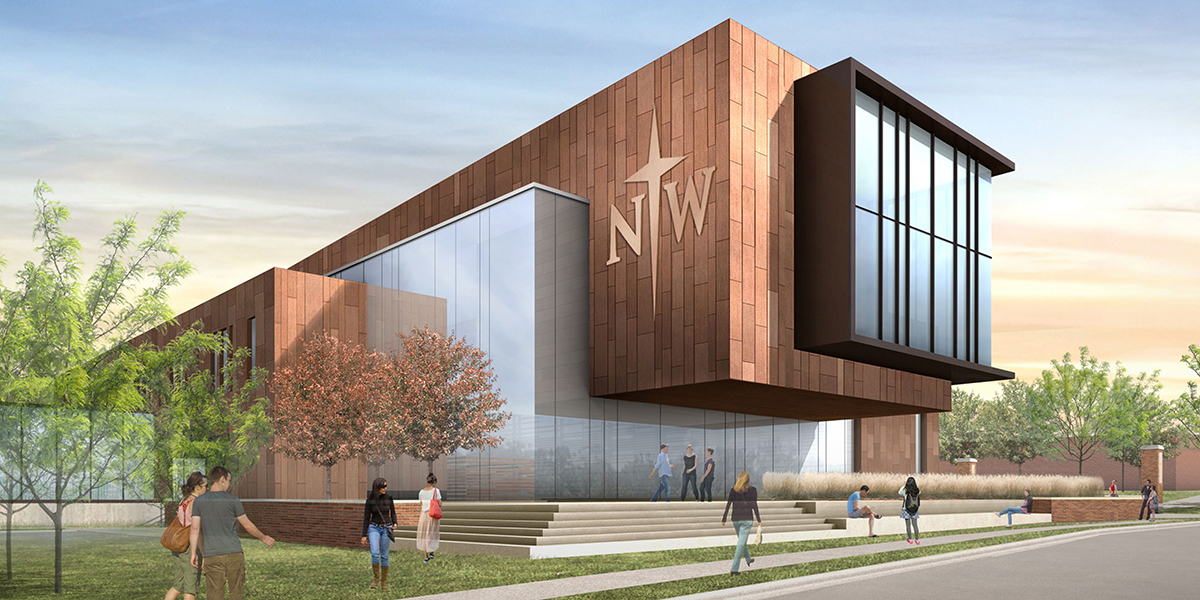 drawings of the new science building