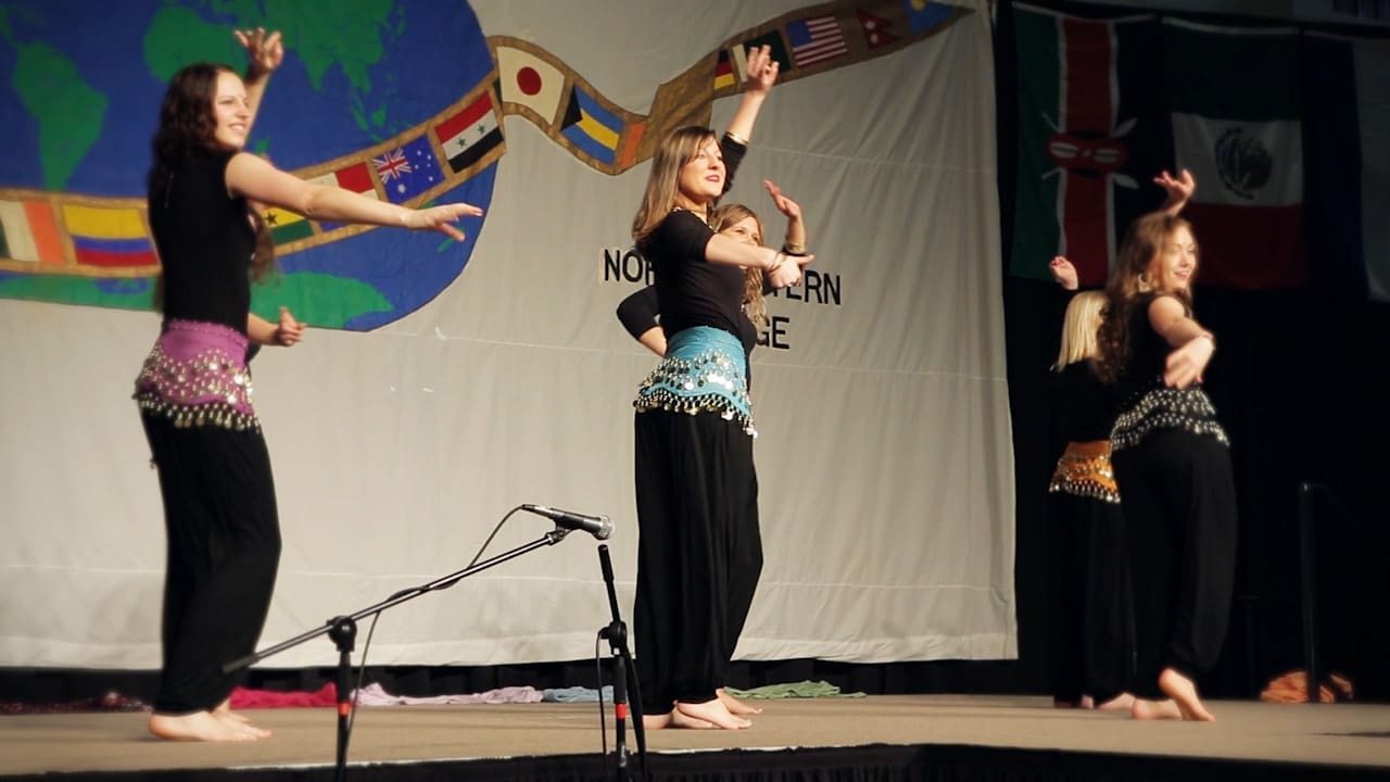 students dance at the ethnic fair