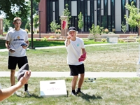 NWC students playing games on the green.
