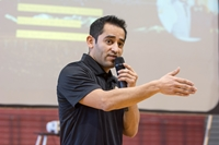 Pedro Ruiz, a 2015 Northwestern College alumnus, was the keynote speaker at the 2018 GRIT Conference